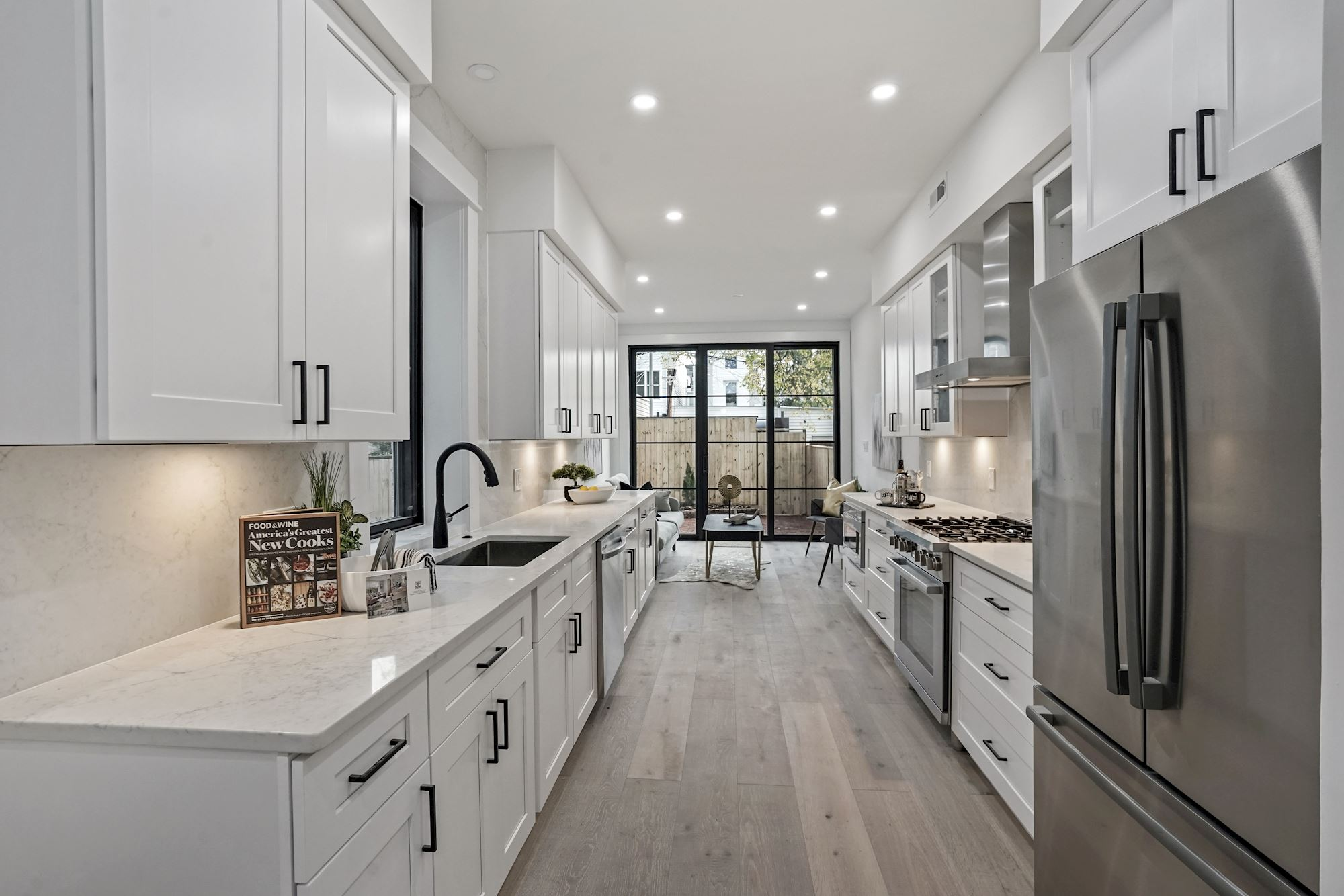 Modern Farmhouse Shotgun Row House in DC