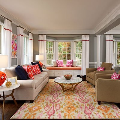 Colorful Great Room in Brookville